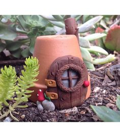 Tiny handmade Gnome Home or Fairy Home for your by LaPetiteGarden, $14.95