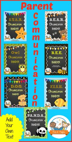 Parent Communication and Student Organization Binders. Start your year off right!