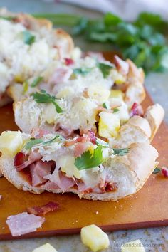 French Bread Hawaiian Pizza - a great way to change up pizza night!
