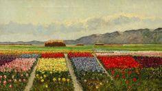 Leo Grijseels  Nederland, 1884-1966  Bollenvelden achter de duinen