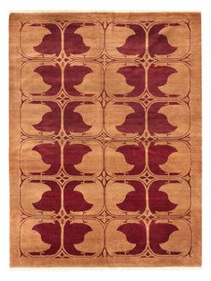 Peshawar Ziegler Hand-Knotted Wool Rug by ECARPETGALLERY at Gilt