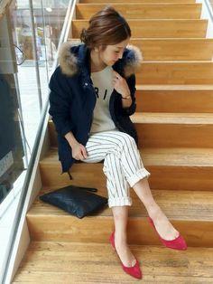 IENA SLOBEのモッズコートを使ったショップスタッフ IENA SLOBE広島 mochiさんのコーディネートです。│毎シーズン安定の人気を誇るモッズコート。...