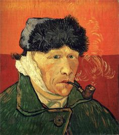 loftcultural:  Vincent van Gogh - Self-Portrait with Bandaged Ear (1889)
