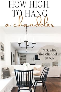 Learn what size chandelier to buy, how high to hang a chandelier over a table, and other considerations for choosing a chandelier.