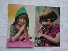 Photo Postcards, Vintage Postcards, Prayer Photos, Glamour Photo, Little Girls, Ebay, Vintage Travel Postcards, Toddler Girls