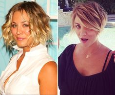 Kaley Cuoco's bob to pixie cut  The Most Requested Haircuts Of 2014 • Page 2 of 5 • BoredBug