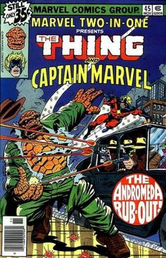 Cover for Marvel Two-In-One (Marvel, 1974 series) Ron Wilson pencils Comic Books For Sale, Marvel Comic Books, Comic Book Characters, Comic Books Art, Comic Art, Book Art, Captain Marvel, Marvel Dc, Marvel Comics