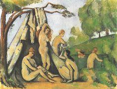 Paul Cézanne - Baigneuses à l'avant d'une tente