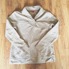 Soft Tan Brown Merona Long Sleeve Sweater This gorgeous Merona top is a tan/brown neutral color and would be great for fall, winter, or spring! It is a large but would best fit a medium or a smaller large. Check it out! Merona Tops