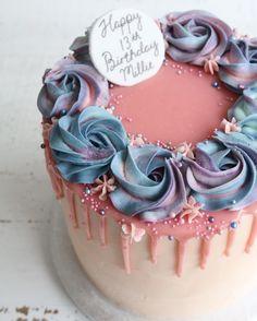 Galaxy Drip Cake