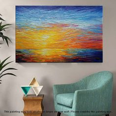 Abstract Flowers Painting Canvas Art Original by AgostinoVeroni Flower Painting Canvas, Painting Frames, Canvas Art, Abstract Flowers, Abstract Art, Original Art, Original Paintings, Room Wall Decor, Large Art