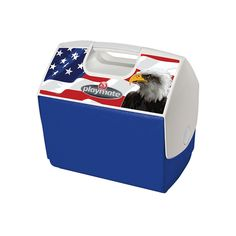 Igloo Playmate Elite American Flag/Eagle Cooler, Red/White/Blue, 16 quart * Trust me, this is great! Click the image. : Camping equipment