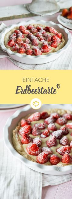 Knuspriger Mürbeteig, leckere Vanillecreme und frische Erdbeeren: So einfach kann französischer Genuss sein. Den Boden kannst du vorbereiten und einfrieren.