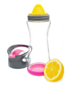 This Full Circle Raspberry Pink Wherever Water On-the-Go Water Bottle by Full Circle is perfect! #zulilyfinds