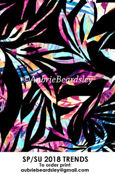 ©aubriebeardsley #swimwear #activewear #trend #2018 #spring #summer #art #fashion #designer #print #pattern #surfacedesign #movement #color #womensfashion #aubriebeardsley