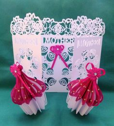 Mother's Day CupCake door card, designed and cut on Silhouette Cameo machine..... All Mother's deserve Cakes!