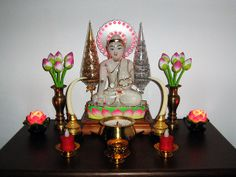 buddhist altars in the home Wiccan, Pagan, Buddhist Shrine, Puja Room, Candels, Burmese, New Age, Occult, Buddhism
