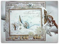 OOAK Magnolia Tilda Christmas card by CardsbyBarbaraGR on Etsy