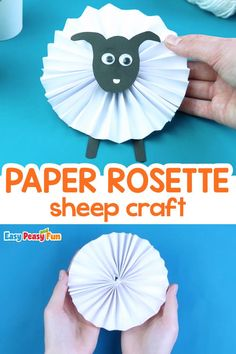 Paper Rosette Sheep Craft for Kids Easter Arts And Crafts, Spring Crafts For Kids, Sheep Crafts, Paper Rosettes, Flower Crafts, Easy Peasy, Kids And Parenting, Easy Crafts, Activities For Kids