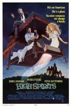 High Spirits Movie Poster (27 x 40 Inches - 69cm x 102cm) (1988) -(Daryl Hannah)(Peter O'Toole)(Steve Guttenberg)(Beverly D'Angelo)(Liam Neeson)(Martin Ferrero) MG Poster