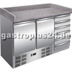 #Pizzakühltisch mit 2 gekühlten Türfächern für die #Pizzeria: #Gastronomiebedarf bei www.gastroplus24.de