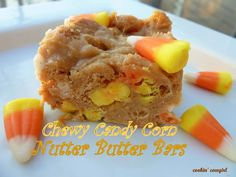 Nutter Butter Bars with Candy Corn- A twist on the old Peanuts and Candy Corn snack mix