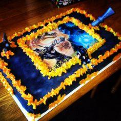 Mortal Kombat Birthday sheet cake