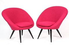 Tickled Pink Italian Lounge Chairs | red modern furniture