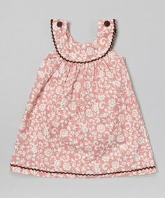 Look at this #zulilyfind! Pink Floral Yoke Jumper - Infant, Toddler & Girls by Lil Cactus #zulilyfinds