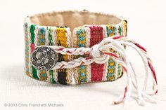 Tapestry Weaving on the Mirrix Loom - Sampler bracelet
