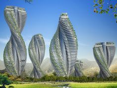 Vincent Callebaut's Twisting Citytree Towers Generate More Energy Than They Consume