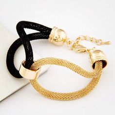 Bracelet : gold and black mesh style adjustable bracelet. Fun and fashionable Message me for details. #noorsjewels