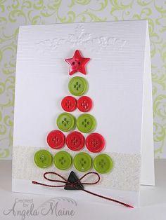 arbolito de navidad hecho con botones de colores