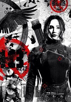 #Mockingjay #HungerGames - O cartaz dos rebeldes ganhou uma versão diferente. Katniss Everdeen, símbolo da revolução, na arte criada pelo designer #WK360. http://instagram.com/WK360 - #JogosVorazes #Esperança