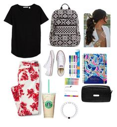 """1st Day of School Contest Entry!🤓📓"" by pinterestemily on Polyvore featuring Lands' End, Vera Bradley, Converse, Paper Mate, Yoobi, Lilly Pulitzer, Baggallini and plus size clothing"