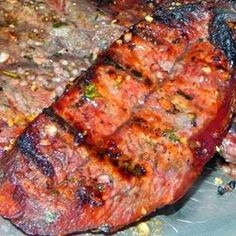 Flat Iron Steaks Marinated in Red Wine Allrecipes.com