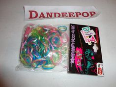 New Expressions 300 piece Loom Rubber Bands Jewelry making multi color glittered find me at www.dandeepop.com