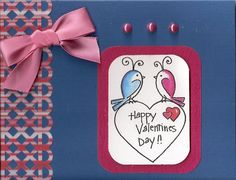 Made by Char with Whipper Snapper Stamp Valentine Lovebirds