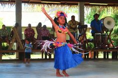 Entertainment at the Punanga Nui Saturday Market in Rarotonga - Cook Islands