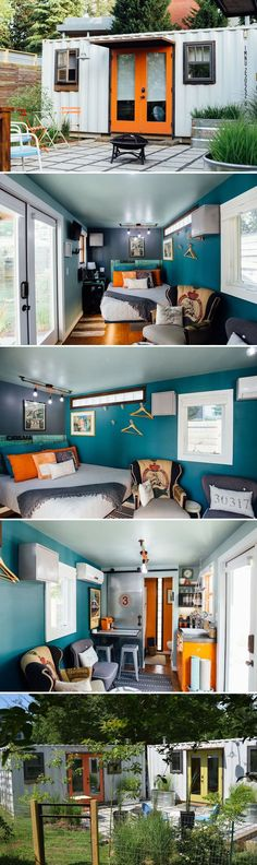 Container House Design, Tiny House Design, Tiny House Living, Home And Living, Shipping Container Homes, Shipping Containers, Tiny House Plans, Little Houses, Small Spaces
