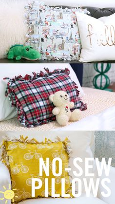 Huge no sew floor pillow! Made it just like a no sew blanket and ...