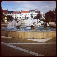 Tourcoing Centre. La fontaine de la Grand'Place