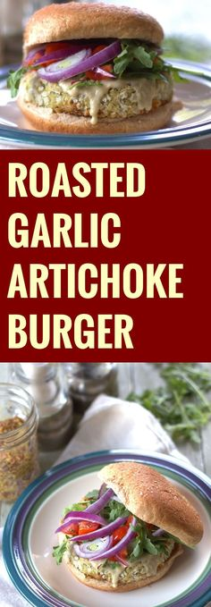 Roasted garlic, white beans, tender artichoke hearts and Dijon mustard go into these healthy and delicious vegan artichoke burgers.