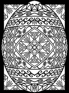 pysanky coloring pages - Google Search