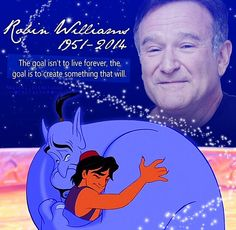"Aladdin and the Genie will live forever in this world and in my heart ""genie, your free"" amen"