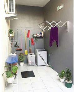 Inspirasi laundry room by semoga menginspirasi 🏡 Home Room Design, Home Design Plans, Home Interior Design, Indian Home Interior, Indian Home Decor, Home Decor Furniture, Diy Home Decor, Tv Decor, Hobby Design