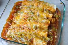 Easy Chicken Enchiladas for Two & Meal Planning — Nutritious Eats  Very good, made in January 2013 for first time. Didn't include the green peppers. Gourmet Recipes, Mexican Food Recipes, Cooking Recipes, Healthy Recipes, Mexican Dishes, Cooking Ideas, Meat Recipes, Delicious Recipes, Healthy Foods