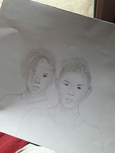 My unfinished drawing of Marcus and Martinus✍