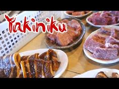 Yakiniku! Grilling your own meat 焼肉 食べ放題! - YouTube