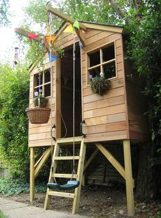 Love tree house with swing!!!